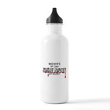 Zombie Hunter - Midwif Water Bottle