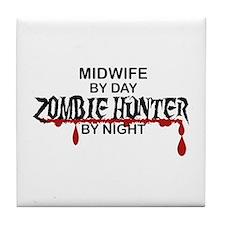 Zombie Hunter - Midwife Tile Coaster
