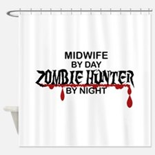Zombie Hunter - Midwife Shower Curtain
