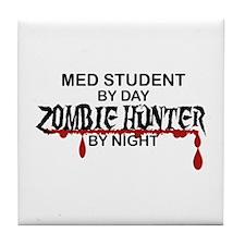 Zombie Hunter - Med Student Tile Coaster