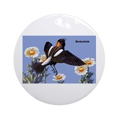 Bobolink Bird Ornament (Round)