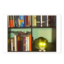 cat headlights eyes book Postcards (Package of 8)