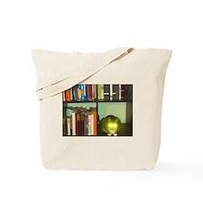 cat headlights eyes book Tote Bag