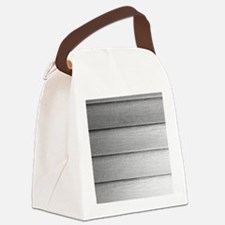 White faded horizontal panels Canvas Lunch Bag