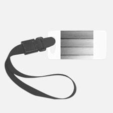 White faded horizontal panels Luggage Tag