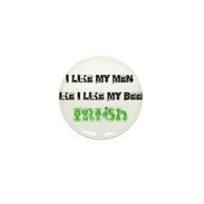 Like Men/Beer Irish Mini Button (10 pack)