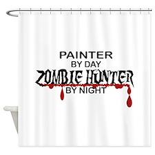 Zombie Hunter - Painter Shower Curtain