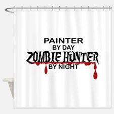 Zombie Hunter - Painter Shower Curtain