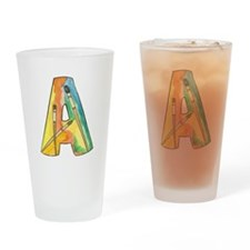 Colorful A Drinking Glass