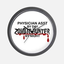 Zombie Hunter - Physician Asst Wall Clock