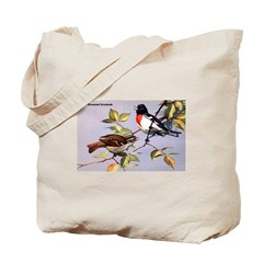 Rose-Breasted Grosbeak Bird Tote Bag