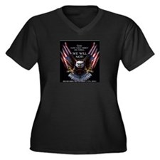 God May Have Mercy Women's Plus Size V-Neck Dark T