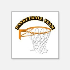 "Basketball Team Square Sticker 3"" x 3"""