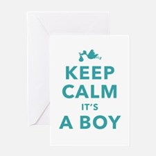 Keep Calm Its A Boy Greeting Cards