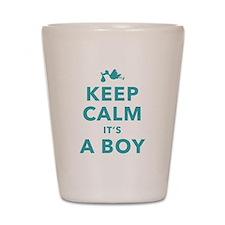 Keep Calm Its A Boy Shot Glass