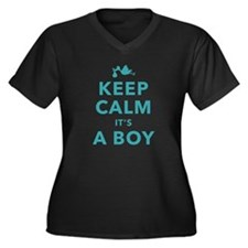 Keep Calm Its A Boy Plus Size T-Shirt