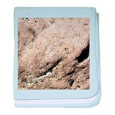 Beige rock texture baby blanket