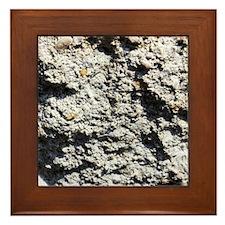 Rock concrete texture Framed Tile