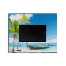 A Boat On A Tropical Beach Picture Frame