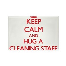 Keep Calm and Hug a Cleaning Staff Magnets