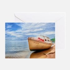 A Boat On A Tropical Beach 1 Greeting Card