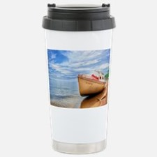 A Boat On A Tropical Be Travel Mug