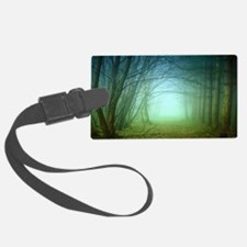 A Forest With Fog Luggage Tag
