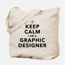 Keep Calm Graphic Designer Tote Bag
