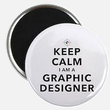 Keep Calm Graphic Designer Magnets