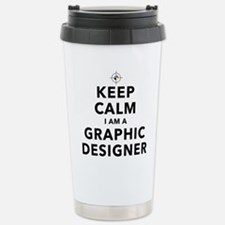 Keep Calm Graphic Designer Travel Mug