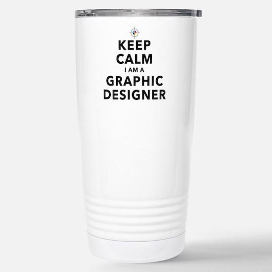 Keep Calm Graphic Designer Travel Mug