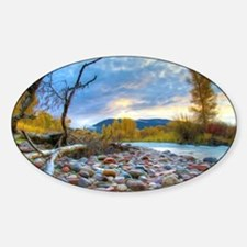 A River With Stones  Decal