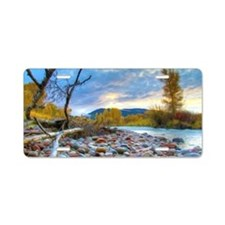 A River With Stones  Aluminum License Plate
