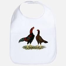 Aseel Black Red Chickens Bib
