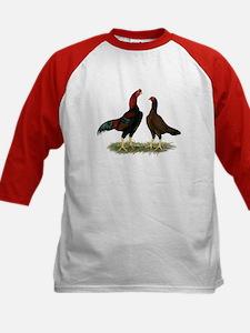 Aseel Black Red Chickens Tee