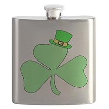 St. Patricks Day Shamrock Clover Flask
