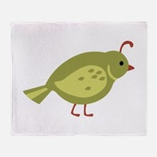 Quail Bird Animal Throw Blanket
