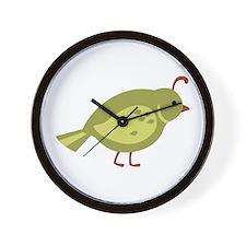 Quail Bird Animal Wall Clock