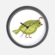 Quail Bird Animal Wall Clock