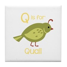 Q is for Quail Tile Coaster