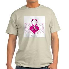 pink ribbon Ash Grey T-Shirt