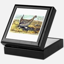Sharp-Tailed Grouse Bird Keepsake Box