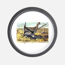 Sharp-Tailed Grouse Bird Wall Clock