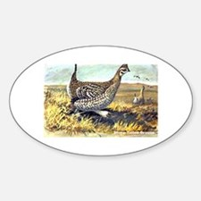 Sharp-Tailed Grouse Bird Oval Decal