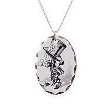 Vintage Alice in Wonderland Ma Necklace Oval Charm