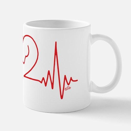 Horses Love Heartbeats Heart Mug