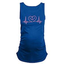 Horses Love Heartbeats Heart Maternity Tank Top