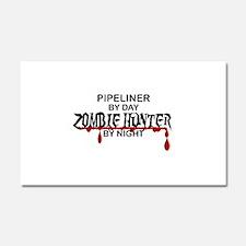 Zombie Hunter - Pipeliner Car Magnet 20 x 12
