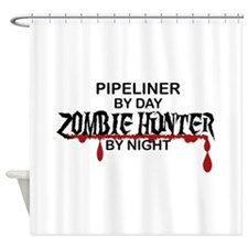 Zombie Hunter - Pipeliner Shower Curtain