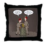 Caving Fun Throw Pillow